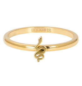 iXXXi Jewelry iXXXi vulring 2 mm Symbol Snake Gold Plated