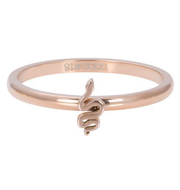 iXXXi Jewelry iXXXi vulring 2 mm Symbol Snake Rosé Gold Plated