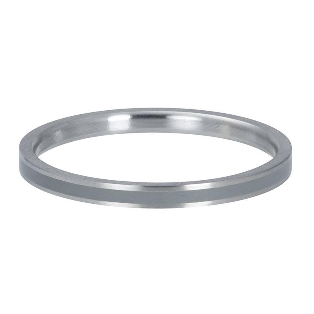 iXXXi Jewelry iXXXi vulring 2 mm Line Grey Matt