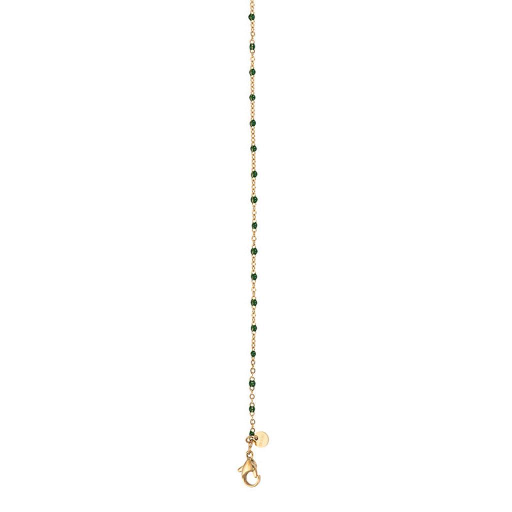 iXXXi Jewelry iXXXi ketting Black Beads 50+5 cm Gold Plated