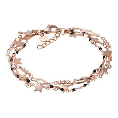 iXXXi Jewelry iXXXi armband Kenya (black beads) Rosé Gold Plated
