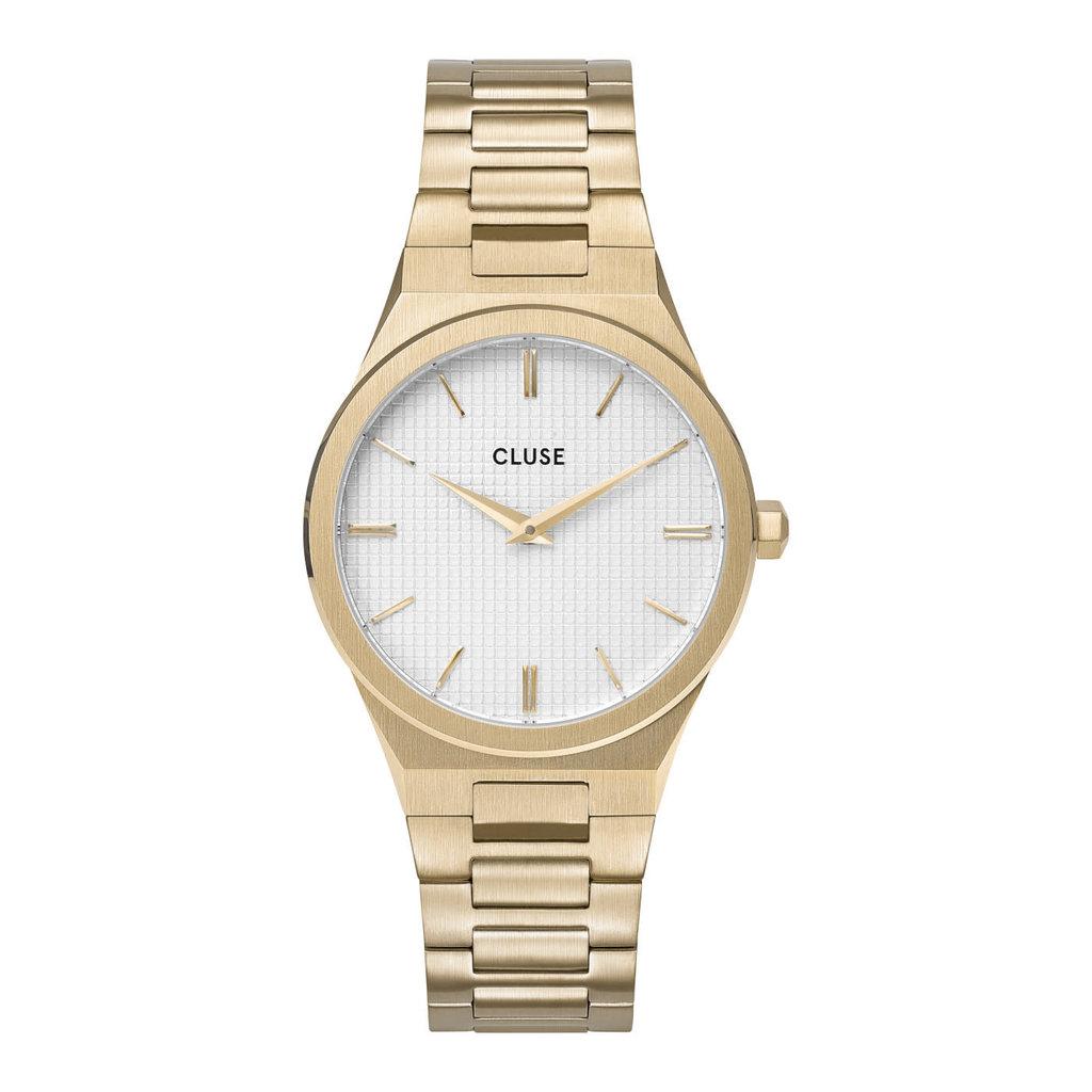 CLUSE CLUSE horloge Vigoureux 33 H-Link Gold Snow White/Gold  CW0101210002