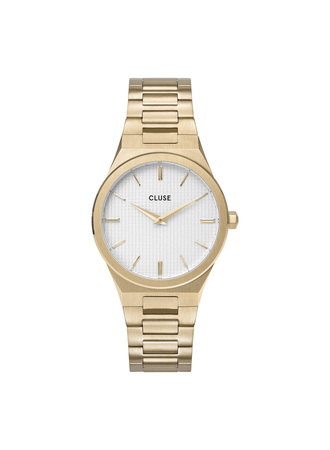 CLUSE horloge Vigoureux 33 H-Link Gold Snow White/Gold