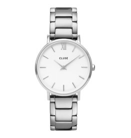 CLUSE CLUSE horloge Minuit 3-Link Silver White/Silver