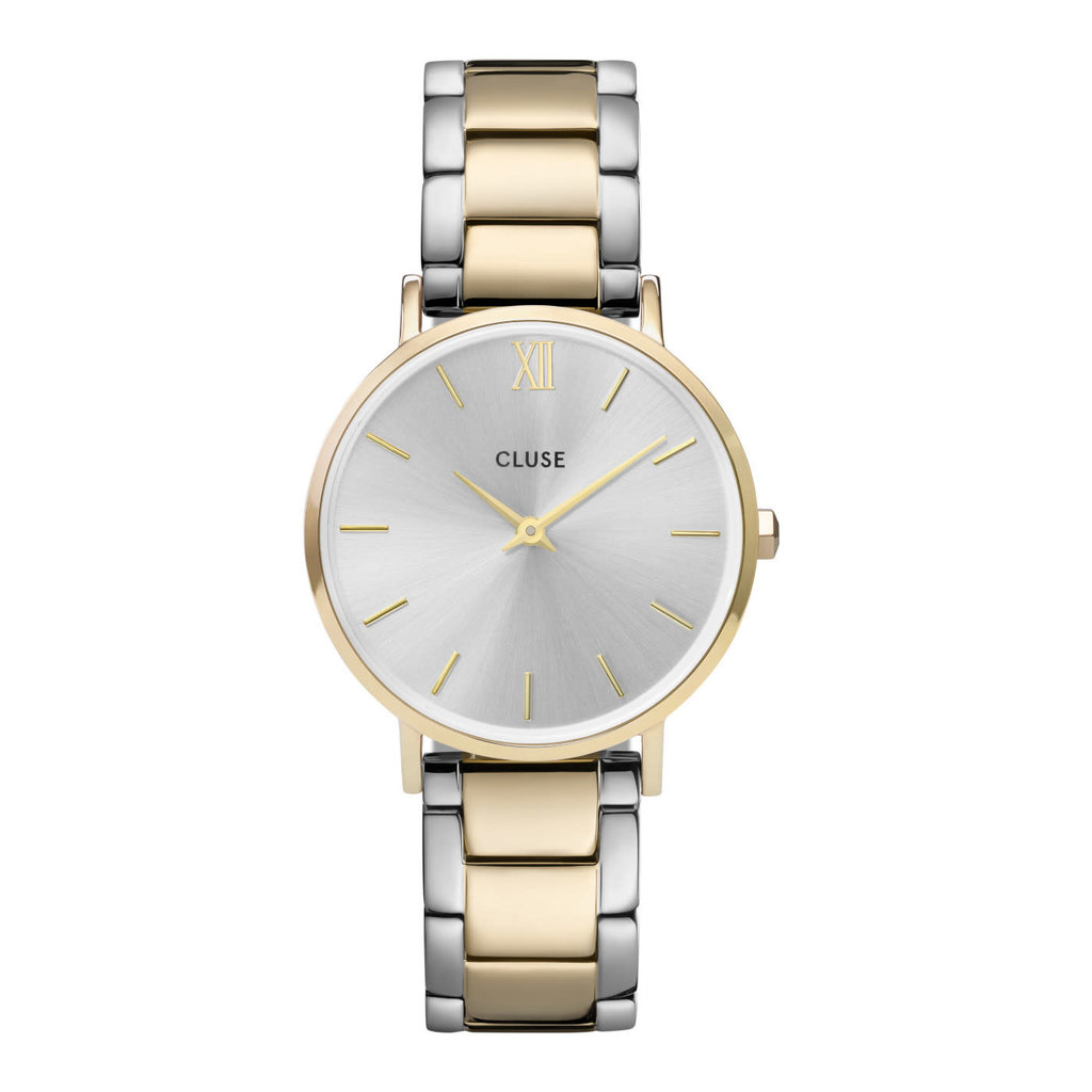 CLUSE CLUSE horloge Minuit 3-Link Gold/Silver