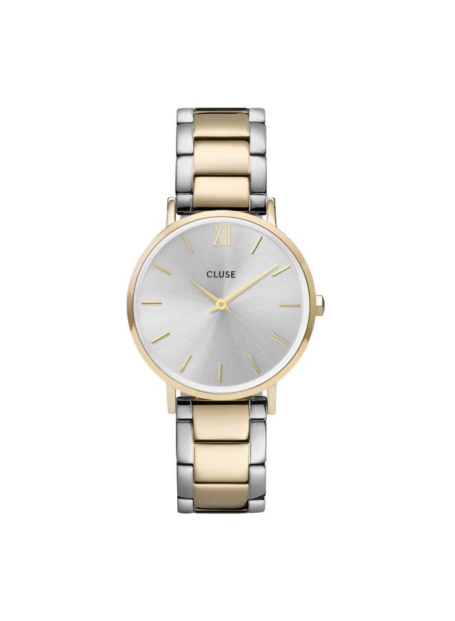 CLUSE horloge Minuit 3-Link Gold/Silver