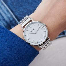 CLUSE CLUSE horloge La Bohème Multi-Link Silver White/Silver