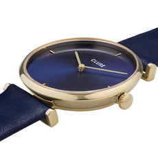 CLUSE CLUSE Horloge Triomphe  Leather Gold Blue CW0101208011