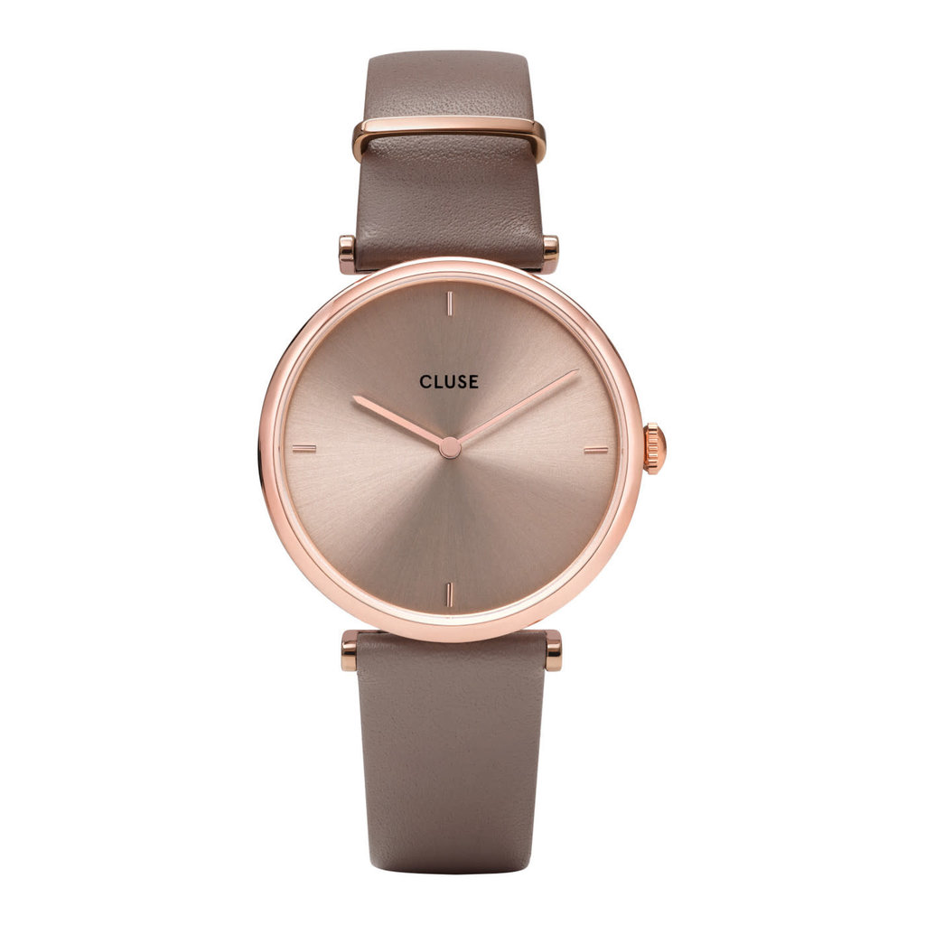 CLUSE CLUSE Horloge Triomphe Leather Rose Gold Soft Taupe CW0101208010