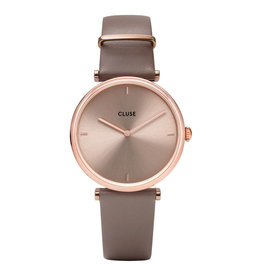 CLUSE CLUSE Horloge Triomphe Leather Rose Gold Soft Taupe