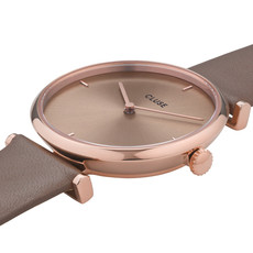 CLUSE CLUSE Horloge Triomphe CW0101208010 Leather Rose Gold Soft Taupe