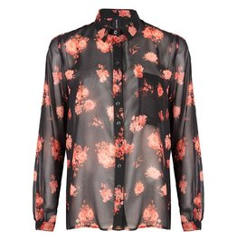 Jane Lushka Jane Lushka blouse GOF719AW10P Black Flower
