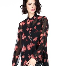 Jane Lushka Jane Lushka blouse GOF719AW10P Black Flower