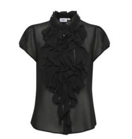Saint Tropez Saint Tropez blouse Petra Solid Black