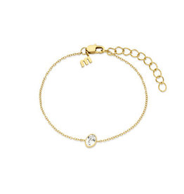 Melano Melano Friends armband Mini Oval Gold Plated Crystal