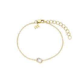 Melano Melano Friends armband Mini Pillow Gold Plated Crystal