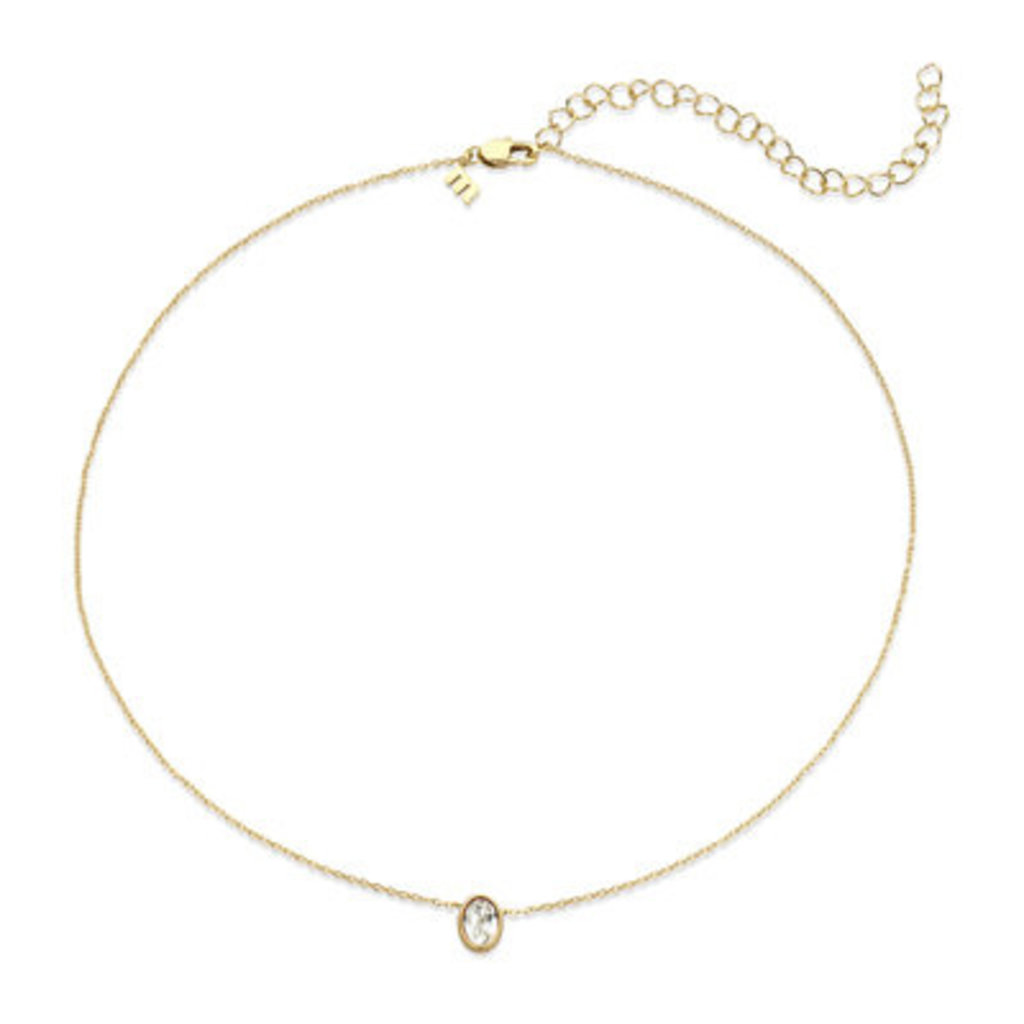 Melano Melano Friends ketting Oval  Gold Plated Crystal
