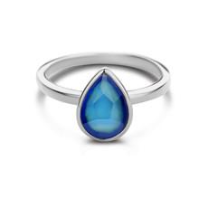 Mi Moneda Mi Moneda Vintage ring Bliss 925 Silver Mood Stone