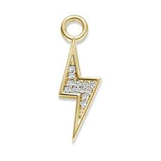 Mi Moneda Mi Moneda Monogram charm Thunder Gold Plated CZ