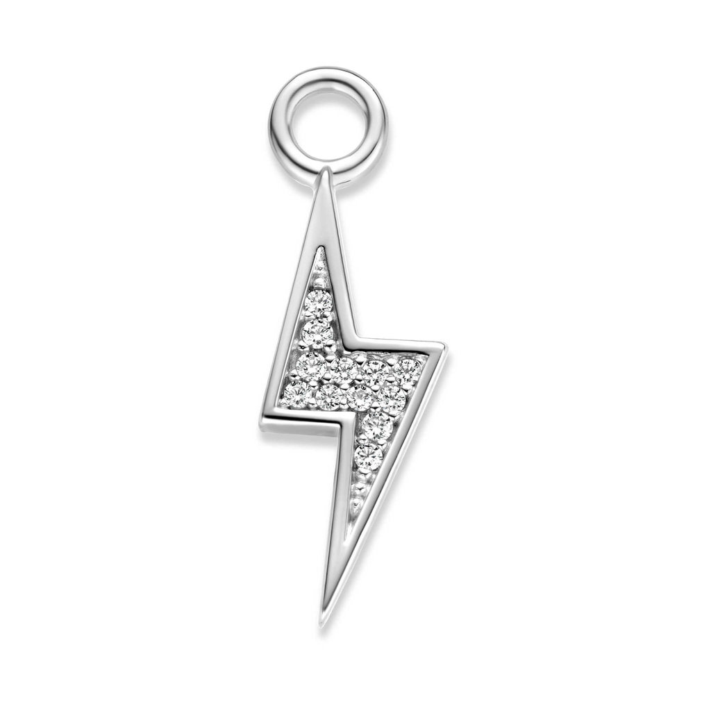 Mi Moneda Mi Moneda Monogram charm Thunder Silver CZ