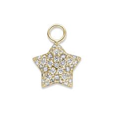 Mi Moneda Mi Moneda Monogram charm Star Gold Plated CZ