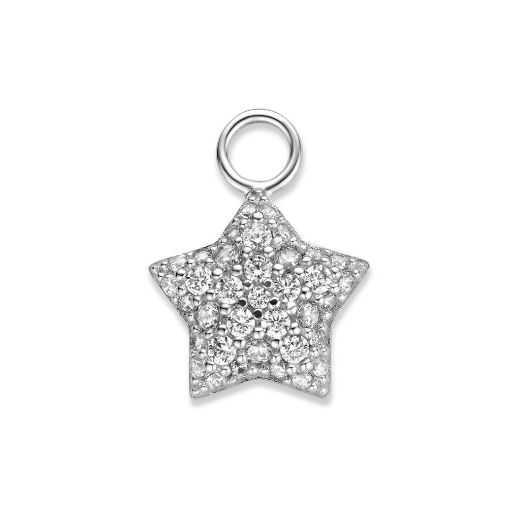 Mi Moneda Mi Moneda Monogram charm Star Silver CZ