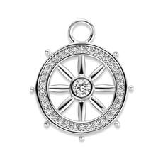 Mi Moneda Mi Moneda Monogram charm Nautic Silver CZ