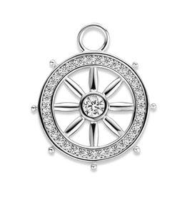 Mi Moneda Mi Moneda Monogram charm Nautic Silver