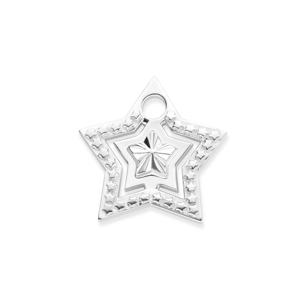 Mi Moneda Mi Moneda Monogram tag Star Silver