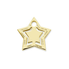 Mi Moneda Mi Moneda Monogram tag Star Gold Plated