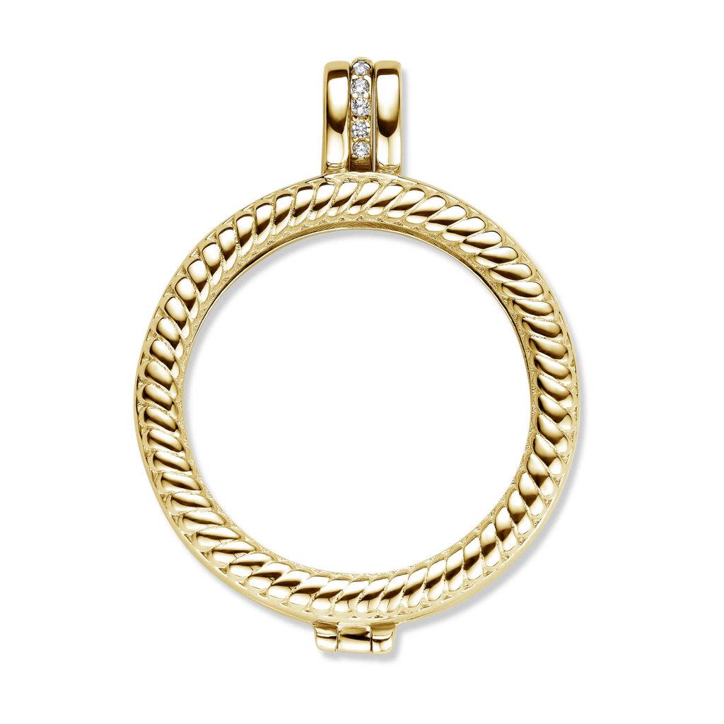 Mi Moneda Mi Moneda Classic pendant Granada Gold Plated/Swarovski Crystal