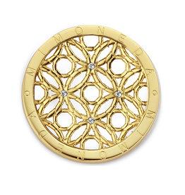 Mi Moneda Mi Moneda Classic munt Mivida SS  Gold Plated/Swarovski Crystal