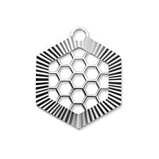Mi Moneda Mi Moneda Monogram tag Honey Silver Swarovski Crystals