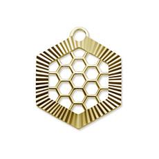 Mi Moneda Mi Moneda Monogram tag Honey Gold Plated Swarovski Crystals