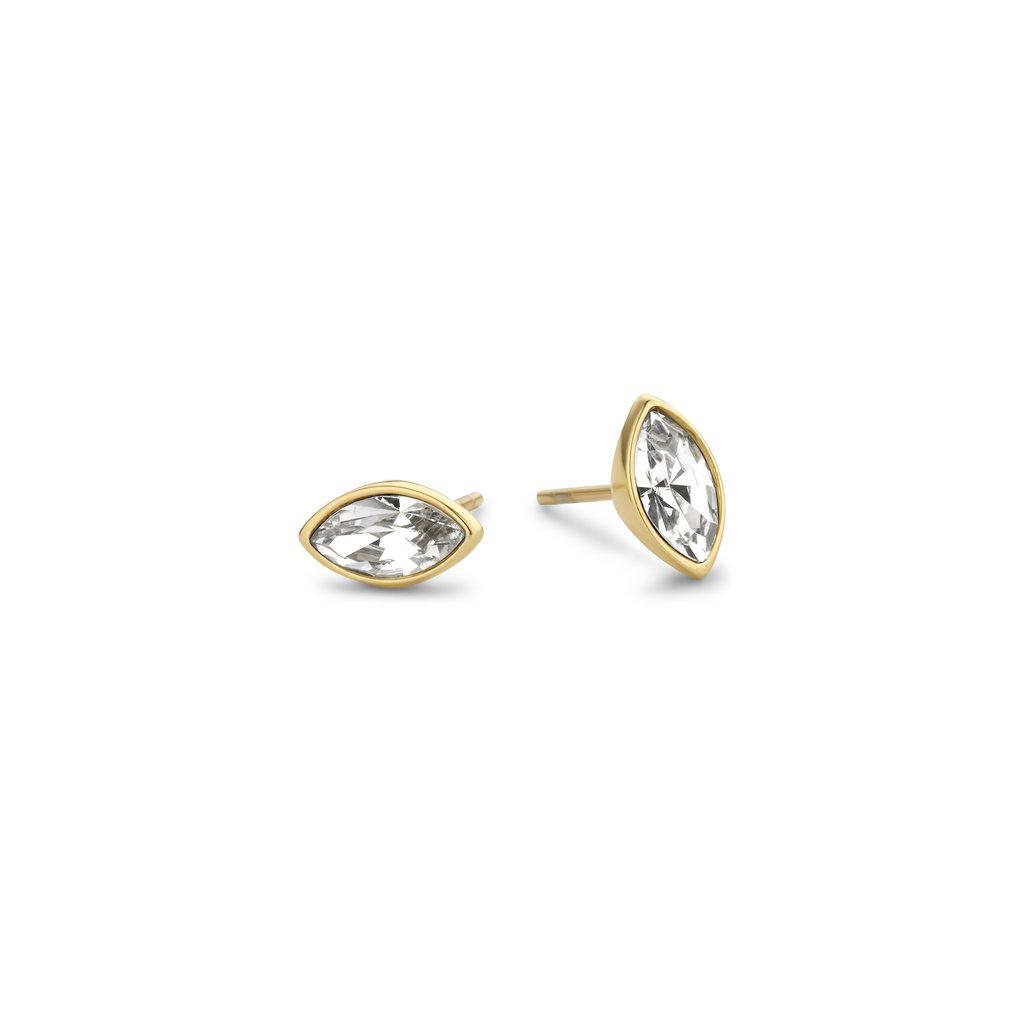 Melano Melano Friends oorbellen Mini Marquise Gold Plated Crystal