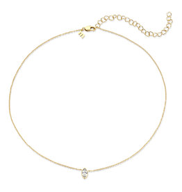 Melano Melano Friends ketting Marquise  Gold Plated Crystal