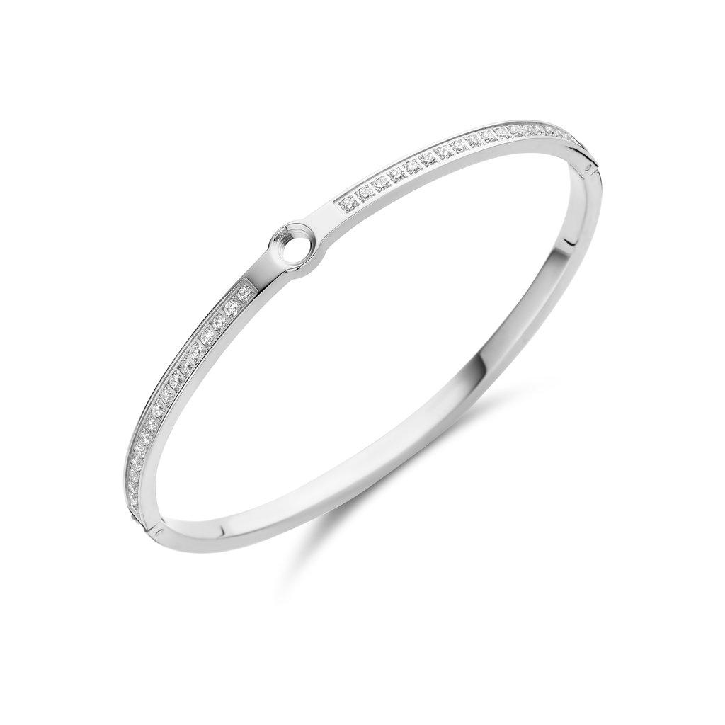 Melano Melano Vivid armband Hinged CZ Stainless Steel