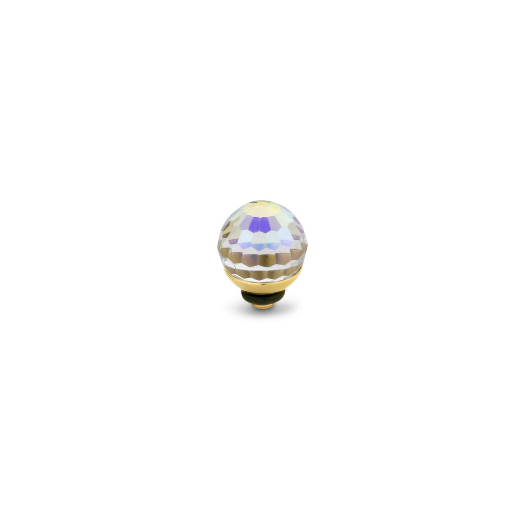 Melano Melano Twisted meddy Disco ball Gold Plated Aquamarine CAVZ