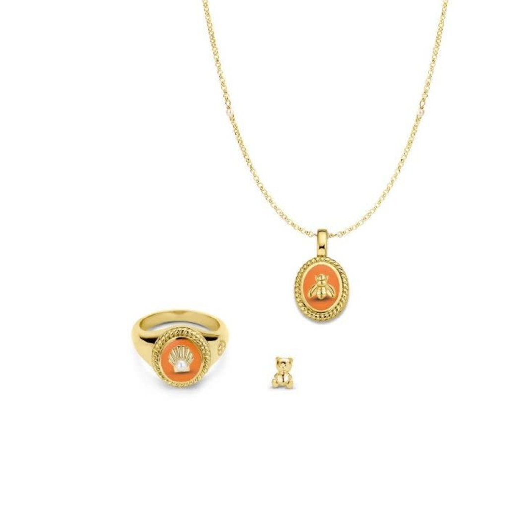 Mi Moneda Mi Moneda icons Giftset Nature 925 Silver Gold Plated