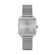 CLUSE CLUSE horloge Tetragone Mesh Full Silver