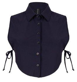 Jane Lushka Jane Lushka kraag blouse  Black