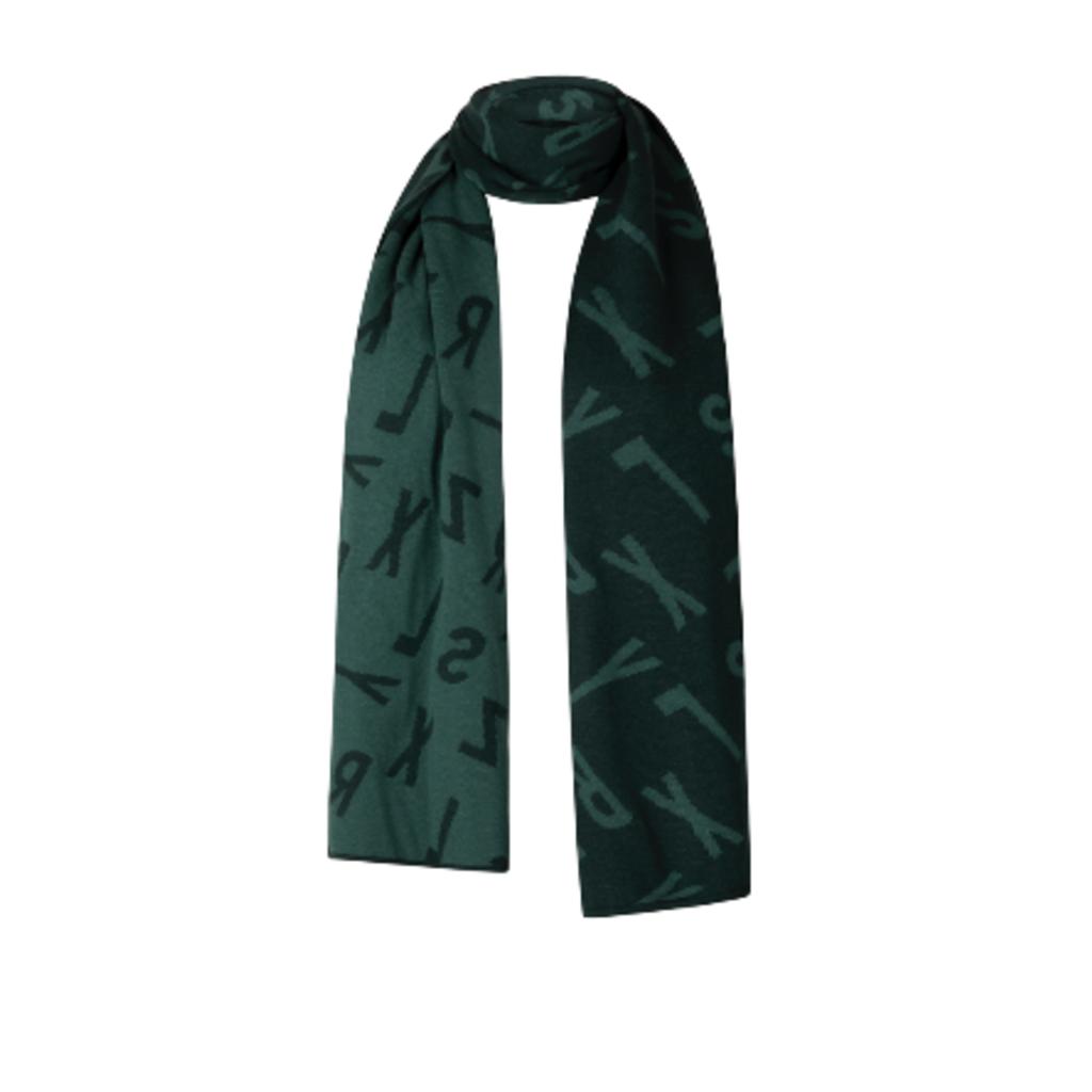 Zoso Zoso sjaal 195 Bonny Logo Forest Midgreen