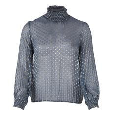 Saint Tropez Saint Tropez blouse U1070 Woven Top L/SL Smoke B.