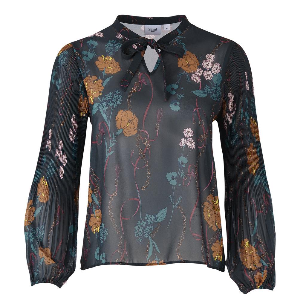 Saint Tropez Saint Tropez blouse U1149 Woven Blouse Forest