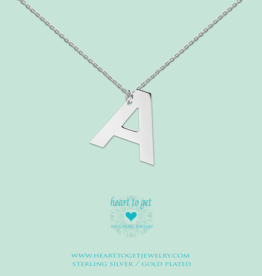 Heart to Get Heart to Get ketting Big Initial A Silver