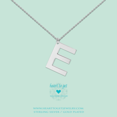 Heart to Get Heart to Get ketting Big Initial E Silver