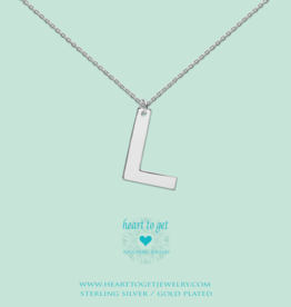 Heart to Get Heart to Get ketting Big Initial L Silver