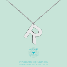 Heart to Get Heart to Get ketting Big Initial R Silver