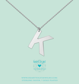 Heart to Get Heart to Get ketting Big Initial K Silver