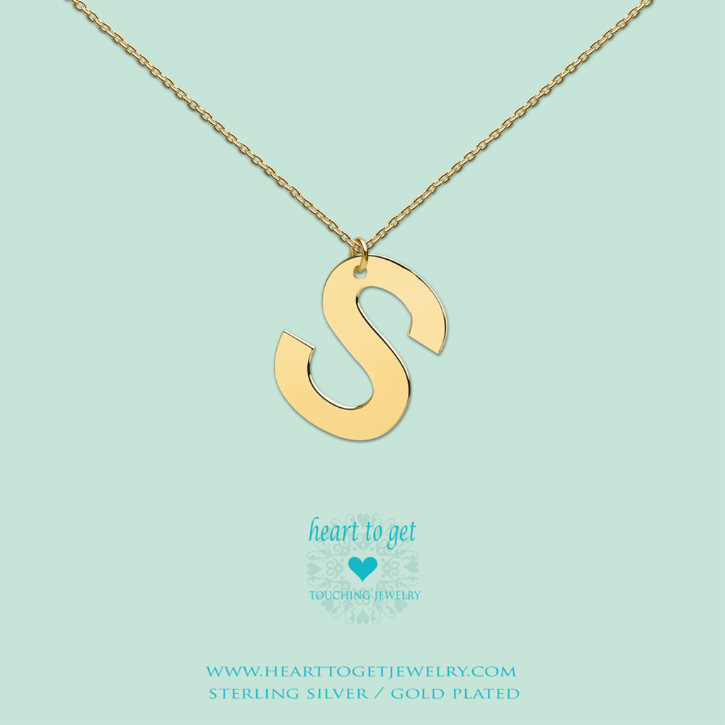 Heart to Get Heart to Get ketting Big Initial S Gold Plated